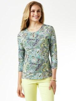 Paisleyshirt Mint/Hellblau Detail 1