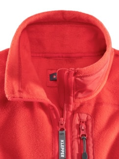 Klepper Active Fleecejacke Hibiskus Detail 3