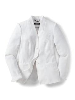 Kofferblazer Wash and Wear Offwhite Detail 4