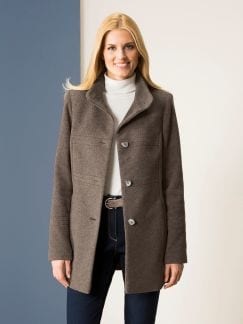 Wolljacke Cashmere Mix Cappuccino Detail 1