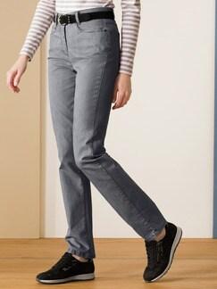 Passform-Jeans Slim Fit Silbergrau Detail 1