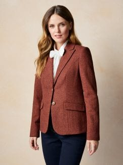 Tweedblazer British Wool Rostorange Detail 1