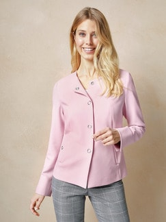 Rundhalsblazer Bordcase Light Rose Detail 1