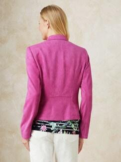 Betty Barclay Velours-Bikerjacke Pink Fuchsia Detail 4