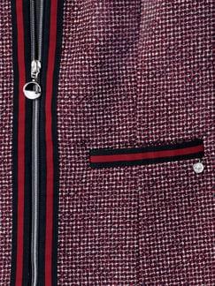 Boucle Blazer modern Classics Rot/Marine Detail 3