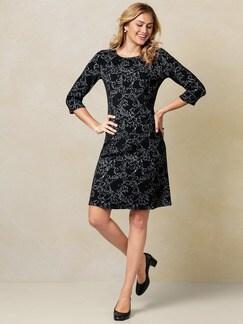 Jerseykleid Black & White