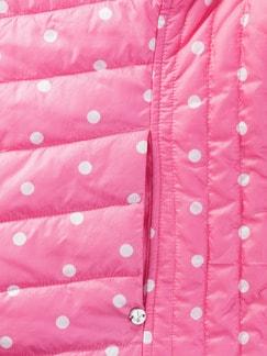 Wendeweste Dots Pink/Weiß Detail 4