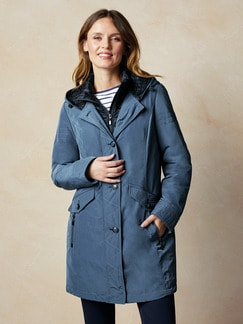 Thermore Winterjacke Rauchblau Detail 1