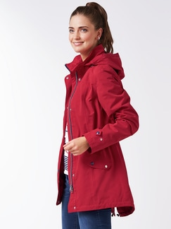 Aquastop-Sailingjacke rot Detail 1