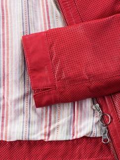 Lammnappa-Jacke 1000 Poren Cranberry Rot Detail 4