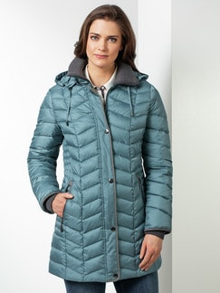 Steppjacke Thermore Gletscherblau Detail 1