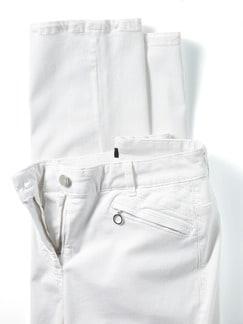 Powerstretch-Baumwollhose Weiß Detail 4