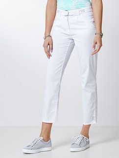7/8 Ultraleicht Hose Clean Protect Weiß Detail 1