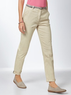 Baumwoll-Chino Softtouch Sand Detail 1