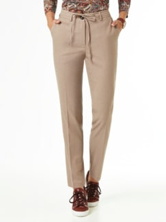 Flanellhose Country life Caramel Detail 1