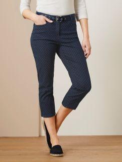 Capri Jacquard Jeans
