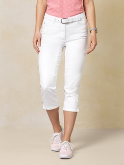 Capri Yoga-Jeans White Detail 1