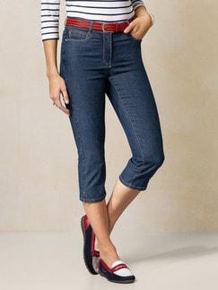 Capri Yoga-Jeans Blue Stoned Detail 1