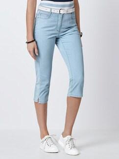 Capri Yoga-Jeans Blue Bleached Detail 1