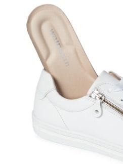 Reißverschluss-City Sneaker Weiß Detail 3