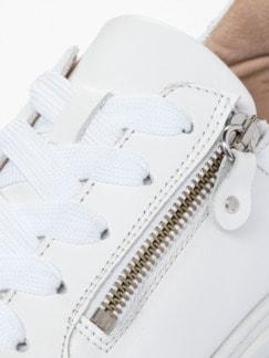 Reißverschluss-City Sneaker Weiß Detail 4