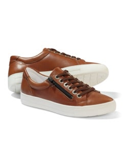 Reißverschluss City Sneaker Cognac Detail 1