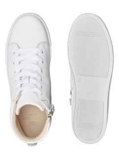 Reißverschluss-City Sneaker High Weiß Detail 2