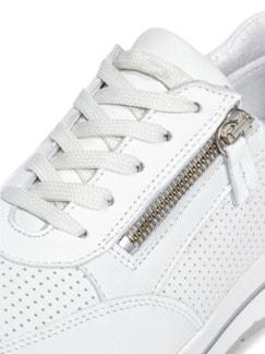 City Perfo-Sneaker Weiß Detail 4