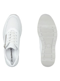 City Perfo-Sneaker Weiß Detail 2