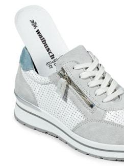 City Perfo-Sneaker Weiß/Grau Detail 3
