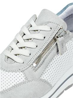 City Perfo-Sneaker Weiß/Grau Detail 4