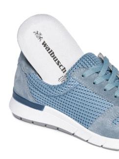 Materialmix-Sneaker Himmelblau Detail 3