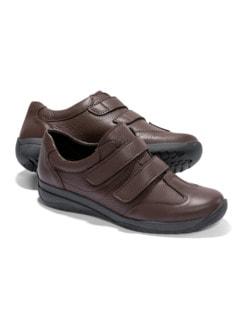 Hirschleder-Doppelklett-Schuh