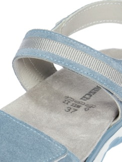 City-Sandale Hellblau Detail 4