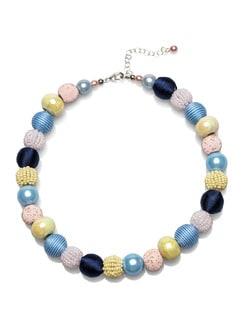 Kugelkette Lieblingsfarben Blau/Gelb/Rose Detail 1