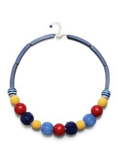 Kugelkette Farbenfrische Blau/Rot Detail 1