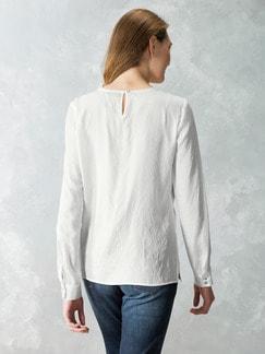 Just White Shirtbluse Spitzenwerk Creme Detail 3