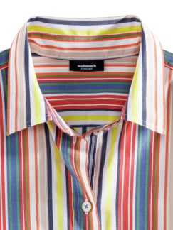Easycare-Hemdbluse Streifen Multicolor Detail 4