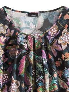 Blousonbluse Flower Power Multicolor Detail 4