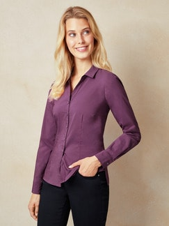 Yoga Bluse Brombeere Detail 1