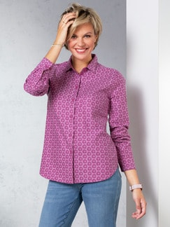 Flanellbluse Supersoft Floral Magnolie Detail 1