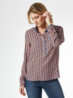 Strickkragen Shirtbluse Grafikdesign Kürbis Detail 1