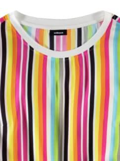 Shirtbluse-Multicolor-Streifen Pink/Grün Detail 3