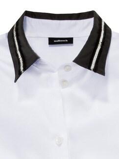 Schmuckkragen-Bluse Weiß Detail 4