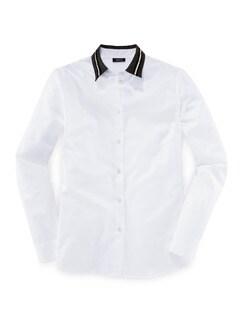 Schmuckkragen-Bluse Weiß Detail 2