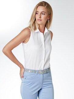 Extraglatt-Bluse Ärmellose Weiß Ärmellos Detail 1