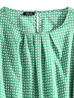 Shirtbluse Sommerleicht Tupfen Grün Detail 3