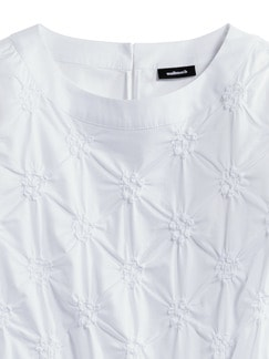 Shirtbluse Rosettenstickerei Weiß Detail 4