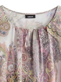 Shirtbluse Sommerpaisley Flamingo Detail 3