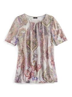 Shirtbluse Sommerpaisley Flamingo Detail 2